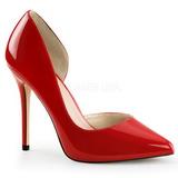 Rød Lakeret 13 cm AMUSE-22 klassisk pumps sko til damer