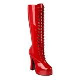Rød Lakeret 13 cm ELECTRA-2020 Høje Damestøvler til Mænd
