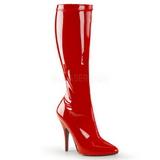 Rød Lakeret 13 cm SEDUCE-2000 Høje Damestøvler til Mænd