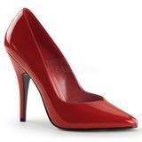 Rød Lakeret 13 cm SEDUCE-420V spidse pumps med høje hæle