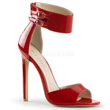 Rød Lakeret 13 cm SEXY-19 Høje Fest Sandaler med Hæl
