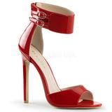 Rød Lakeret 13 cm SEXY-19 højhælede sandaler til kvinder