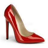 Rød Lakeret 13 cm SEXY-20 spidse pumps med stiletter hæle
