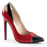Rød Lakeret 13 cm SEXY-22 klassisk pumps sko til damer