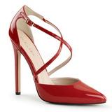 Rød Lakeret 13 cm SEXY-26 klassisk pumps sko til damer
