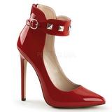 Rød Lakeret 13 cm SEXY-31 klassisk pumps sko til damer