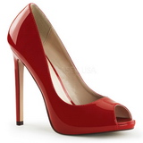 Rød Lakeret 13 cm SEXY-42 klassisk pumps sko til damer