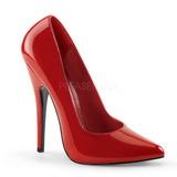 Rød Lakeret 15 cm DOMINA-420 spidse pumps med stiletter hæle