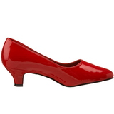 Rød Lakeret 5 cm FAB-420W dame pumps med lave hæl