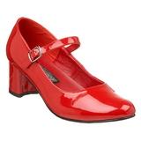 Rød Lakeret 5 cm SCHOOLGIRL-50 klassisk pumps sko til damer