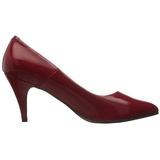 Rød Lakeret 7,5 cm PUMP-420 klassisk pumps sko til damer