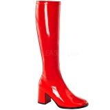 Rød Lakeret 8,5 cm GOGO-300 Høje Damestøvler til Mænd