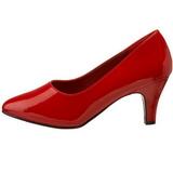 Rød Lakeret 8 cm DIVINE-420W dame pumps med lave hæl