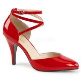 Rød Laklæder 10 cm DREAM-408 store størrelser pumps sko