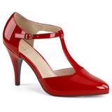 Rød Laklæder 10 cm DREAM-425 store størrelser pumps sko
