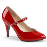 Rød Laklæder 10 cm DREAM-428 store størrelser pumps sko
