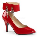 Rød Laklæder 10 cm DREAM-432 store størrelser pumps sko