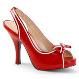 Rød Laklæder 11,5 cm PINUP-10 store størrelser sandaler dame