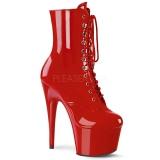 Rød Laklæder 18 cm ADORE-1020 plateau ankelstøvler damer