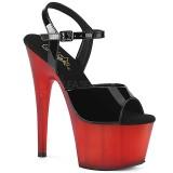Rød Laklæder 18 cm ADORE-709T pleaser sandaler med plateau