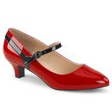 Rød Laklæder 5 cm FAB-425 store størrelser pumps sko