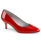 Rød Laklæder 6,5 cm KITTEN-01 store størrelser pumps sko
