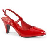Rød Laklæder 7,5 cm DIVINE-418 store størrelser pumps sko