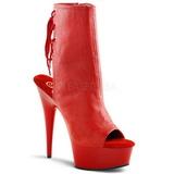 Rød Mat 16 cm DELIGHT-1018 Plateau Ankelstøvler
