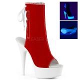 Rød Neon 15 cm DELIGHT-1018SK canvas sneakers med høje hæle