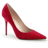 Rød Ruskind 10 cm CLASSIQUE-20 Dame Pumps Stilethæle Sko