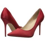 Rød Satin 10 cm CLASSIQUE-20 Dame Pumps Stilethæle Sko