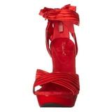 Rød Satin 13 cm COCKTAIL-568 Højhælede Sandaler Sko