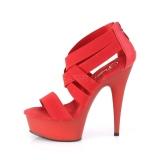 Rød elastisk bånd 15 cm DELIGHT-669 pleaser sko med høj hæl