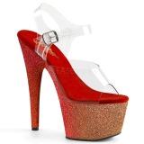 Rød glimmer 18 cm Pleaser ADORE-708OMBRE poledance sko
