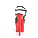Rød krom plateau 18 cm SKY-309 pleaser høje hæle