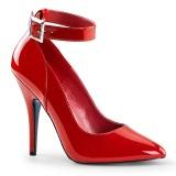 Røde lakpumps 13 cm SEDUCE-431 Ankelrem pumps med høje hæle