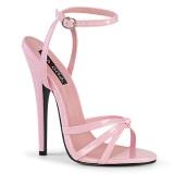 Rosa 15 cm DOMINA-108 højhælede sko til mænd