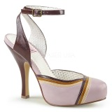 Rose 11,5 cm retro vintage CUTIEPIE-01 Pinup sandals with hidden platform