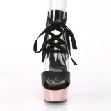 Rose 15 cm DELIGHT-600-14 platform pleaser sandals