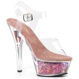 Rose 15 cm KISS-208GF glitter platform sandals shoes