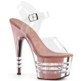 Rose 18 cm ADORE-708CHLN High Heeled Sandal Chrome Platform