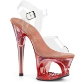 Rose 18 cm MOON-708GFT glitter platform sandals shoes