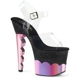 Rose 18 cm SCALLOP-708-2HGM Hologram platform high heels shoes
