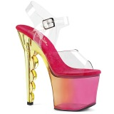Rose 18 cm SCALLOP-708MCT Platform High Heels Shoes