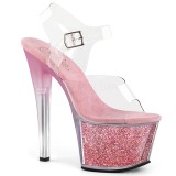 Rose 18 cm SKY-308G-T glitter platform sandals shoes