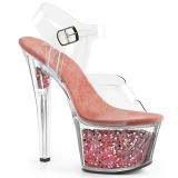 Rose 18 cm SKY-308GF glitter platform sandals shoes