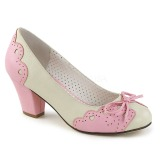 Rose 6,5 cm WIGGLE-17 Pinup Pumps Shoes with Cuben Heels