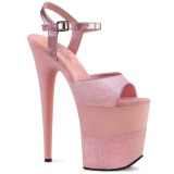 Rose Glitter 20 cm Pleaser FLAMINGO-809-2G High Heels Platform