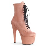Rose Leatherette 18 cm ADORE-1020FS lace up ankle boots