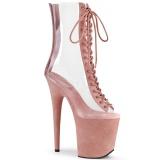 Rose Transparent 20 cm FLAMINGO-800-34FS Pole dancing ankle boots